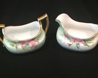 Hand painted 1914-1918 Imperial PSL Austria Cream and Sugar set