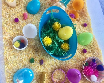 Sensory Bin: Easter Egg Hunt