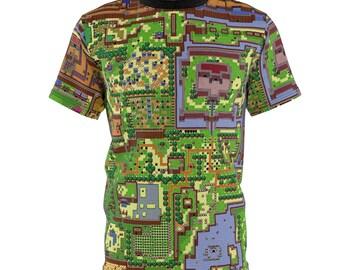 Links Awakening // Map Of Hyrule // The Legend Of Zelda // Unisex Aop Cut  Sew Tee