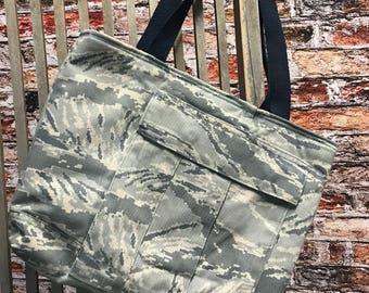 Uniform Tote bag- Repurposed - ABUs- Ready to Ship