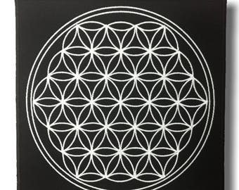 Flower of life - embroidered patch 20x20 cm