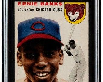 1954 Topps Ernie Banks #94 RC Rookie - SGC 5/60