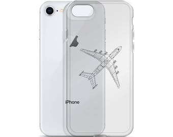 iPhone Case, iPhone Image Case, iPhone Plane Case, Cool iPhone Case, iPhone Protection, Beautiful iPhone Case, Pilot, Graphic, Blueprint