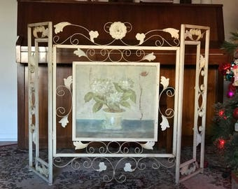 Antique Fireplace Screen Shabby Chic