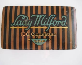 Lady Millford Gold Cigarette Tin (100/empty)