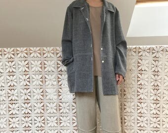 Long oversized grey vintage shirt