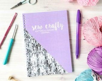 Knitting Journal - Crochet Journal - Yarn Record Notebook for Knitters Yarn Lovers - Crochet Lover - Crochet Planner - Knitting Planner