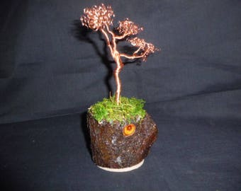 Handmade copper tree