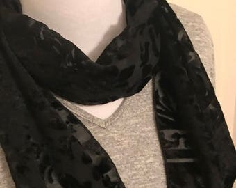 Black with Sheer Scarf