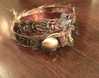 Feather Bracelet or Choker