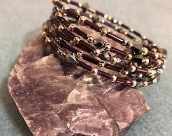 Memory wire Purple bracelet