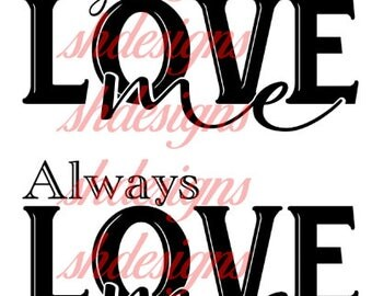 always love me png