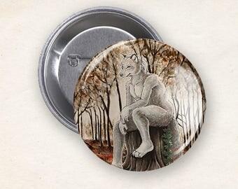 Big Bad Wolf - Pinback button / badge / pin / button