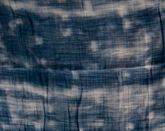 Hand-dyed indigo organic cotton baby swaddle