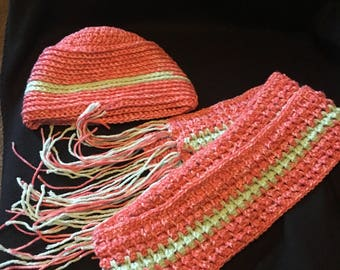 Croch Hat and scarf