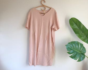 Minimalist Blush Pink Dress Plus Size