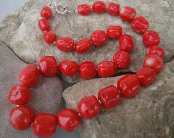 Bamboo Coral Necklace #408