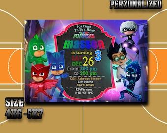 Pj Masks Pj Masks Invitation Pj Masks Birthday Pj Masks Party Pj Masks Birthday Invitation Pj Masks Invitations Pj Masks Printable