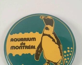 Vintage Montreal aquariums pinback button