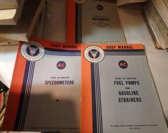 assortment of 5 GM general motors trying booklets- AC shop manua1940's