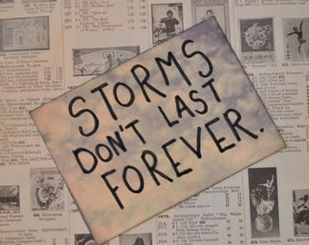 Storms Don't Last Forever - Postcard