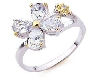 BestOfBijoux® Linda - Flower Design Ring - Women Ring - Cubic Zirconia