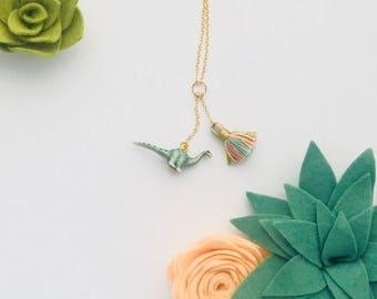 Kailahsaurus Dinosaur Charm/Tassel Necklace