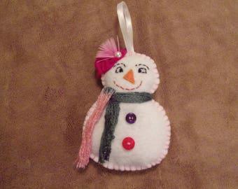 Felt snowman Christmas decoration