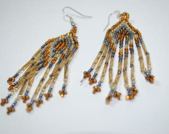 Chandelier Chaquira Earrings - Authentic Mexican Beadwork -
