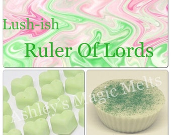 3 Lord of Misrule lush soy wax melts, strong wax melts, designer perfume dupe melts, cheap wax melts, best wax melts