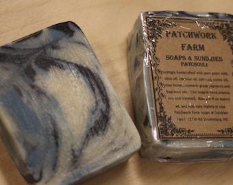 "Goats Milk Soap, Cold Process Soap, Handmade Soap, Natural Soap, Farm Made, ""Patchouli"""