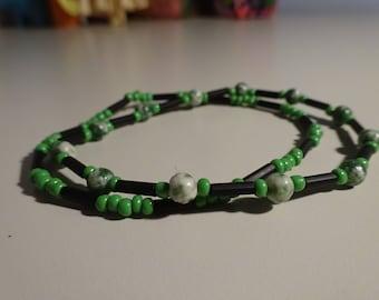 Green and Black Bracelet Set
