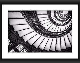 Chicago City / Chicago Downtown / Chicago Skyline / Chicago Architecture / Chicago  Staircase / Spiral