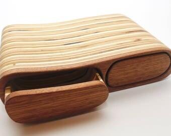 Walnut 2 Drawer Box