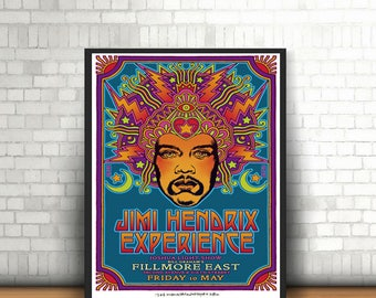 Jimi Hendrix Experience Band Poster