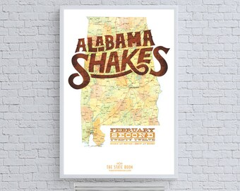 Alabama Shakes State Band Poster Concert Ad
