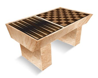 Corrugated Chess & Checkers Coffee Table