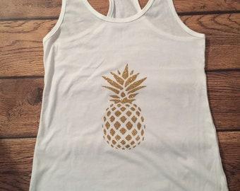 Sweet Sparkle Pinapple Top, Pineapple, summer, Pinappple Tank, Pinapple Top, Pineapple Shirt, Fruit Shirt, Beach Shirt, Vacation