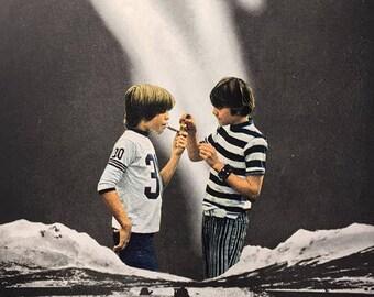 "Handmade Collage: ""Tom And Huck"""