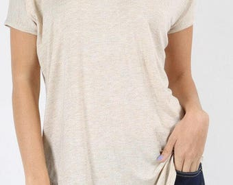 Ivory Cold Shoulder Tee
