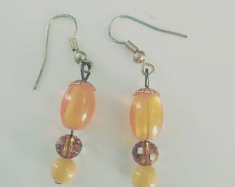 Orange Dangle/Drop Earrings