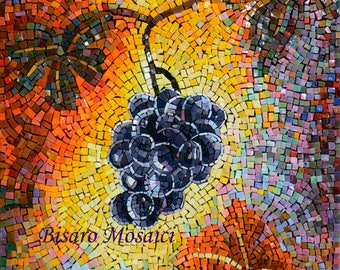 Bunch of grapes in mosaic