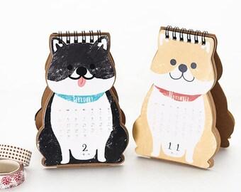Shiba Inu Desktop Calendar