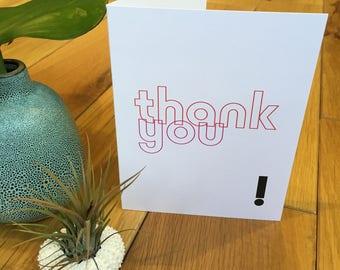 Modern Thank you Card - Gratitude Cards - Elegant Thank You - Folded Thank You Card - Colorful Thank You - Thank You Cards Multiple - Thanks