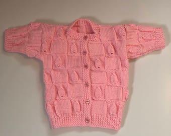 Newborn Pink Cardigan