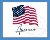 American Flag, SVG, Flag Cut File, America, Patriotic, Flag Waving, American Flag SVG, Patriotic Car Decal, American Pride, Flag, USA