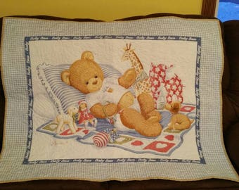 Baby quilt for boy or girl