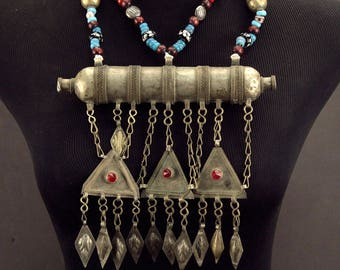 Turkoman Tribe Tumar NECKLACE Bellydance Tribal Dance 812s2