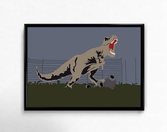 INSTANT DOWNLOAD Jurassic Park Movie Poster, Alternative Movie Poster, Minimalist Movie Print, Film Poster