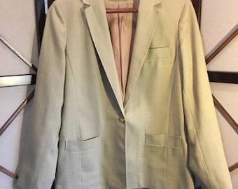70's Vintage Linen Blazer - 9/10